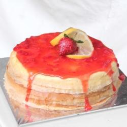 Strawberry Lemon Cheese Mille Crepe