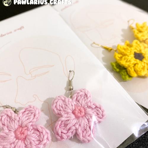 Anting Handmade Bunga Crochet